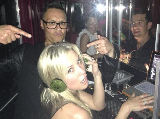 Denise Van Outen and Gok Wan DJ at Amanda Byram's birthday party in Chelsea - 10 June 2013