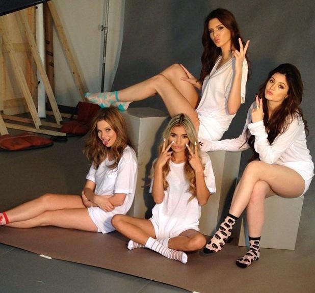 Kendall, Kylie Jenner model Rob Kardashian's Arthur George sock line