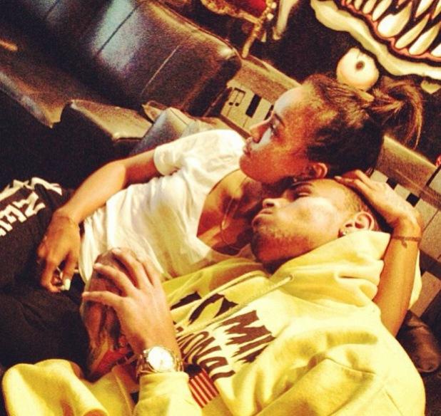 Chris Brown and Karrueche Tran spotted cuddling - 9 June