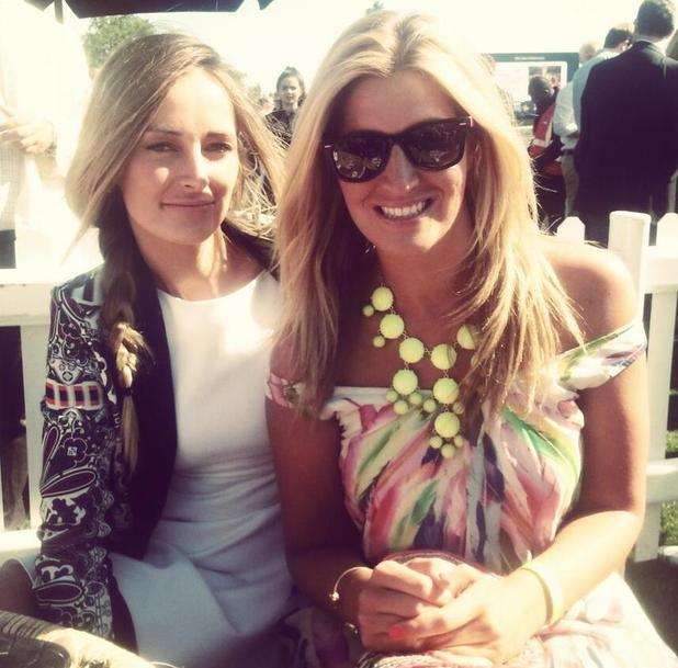 Made In Chelsea's Cheska Hull and Francesca Newman-Young at MINT Polo In The Park - 8 June 2013