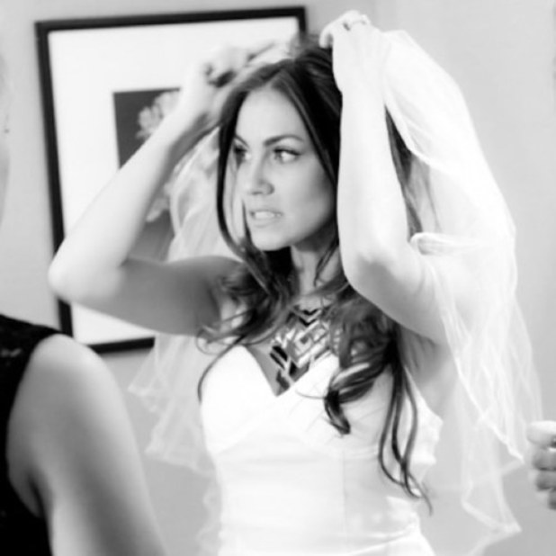 Angela Stacy, now Angela Lanter, shares pic of wedding dress with Twitter followers. June 14 2013.