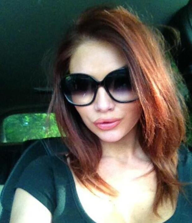 Amy Childs shows off her hair after having her extensions taken out, Twitter, 10 June 2013