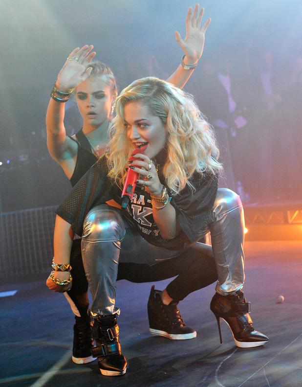 Cara Delevingne and Rita Ora at V Belvedere Vodka party - 12 June 2013