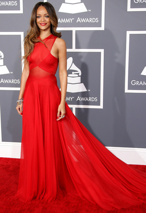 Rihanna 55th Annual GRAMMY Awards - Arrivals held at Staples Center