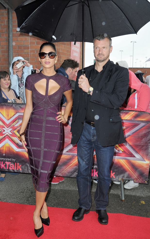 The X Factor judges at Old Trafford for day 3 of the Manchester auditions - 14 June 2013 - Nicole Scherzinger