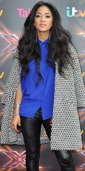Nicole Scherzinger: X Factor judges arrive at Old Trafford for the Manchester auditions, 13 June 2013
