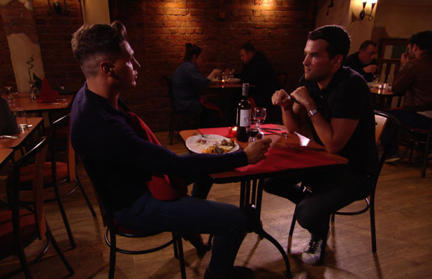 TOWIE (The Only Way Is Essex) episode preview: Sunday 16th June at 10pm on ITV2 Mario Falcone and Ricky Rayment talk over dinner
