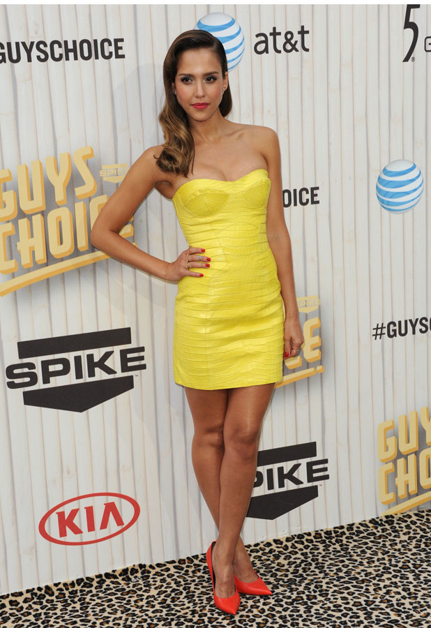 Jessica Alba attends the Spike Guys Choice awards in California