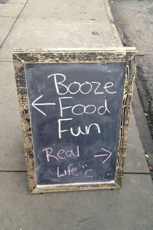Booze, food, fun