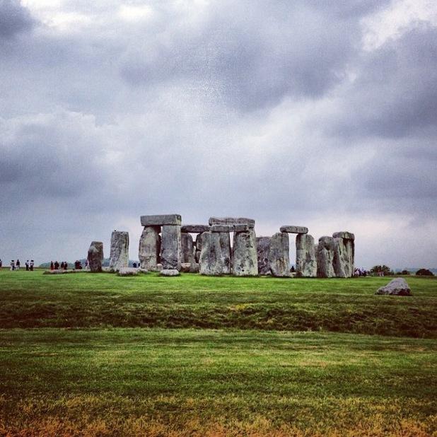 Glee's Chris Colfer visits Stonehenge - 21 June 2013