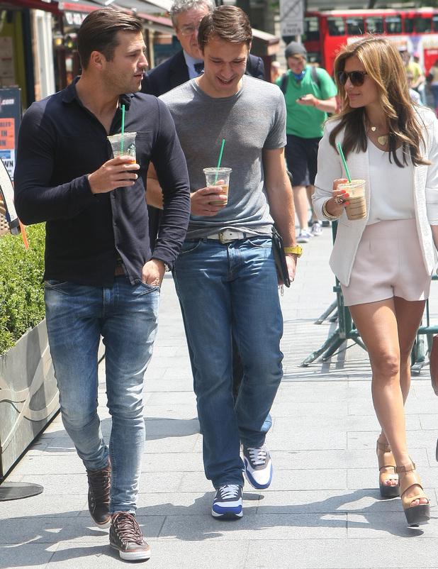 Mark Wright and Zoe Hardman, Celebrities at the Capital FM Radio studios, 19 June 2013