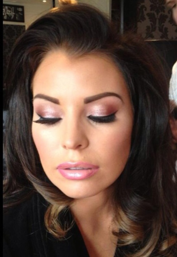 Jessica Wright make-up for filming TOWIE