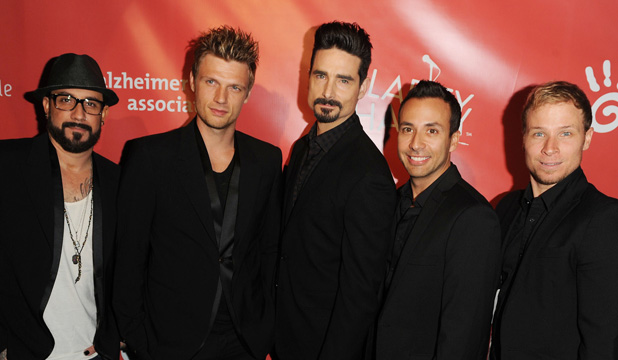 Caption:Hilarity For Charity Benefiting The Alzheimer's Association PersonInImage: AJ McLean,Nick Carter,Kevin Richardson,Howie Dorough,Brien Littrell,Backstreet Boys Credit :Daniel Tanner/WENN.com Special Instructions :