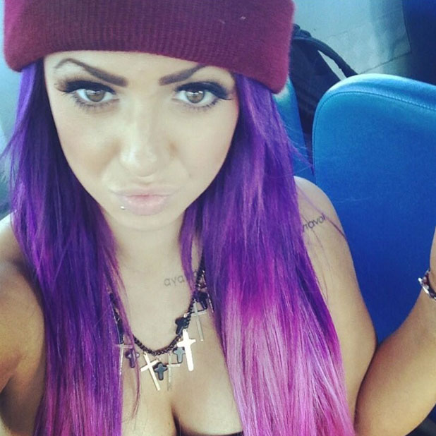 Holly Hagan poses for a selfie, July 2013