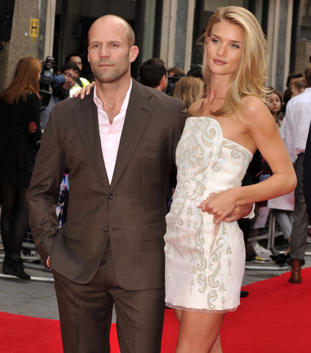 Jason Statham and Rosie Huntington-Whiteley at the Hummingbird premiere, London, 17 June 2013