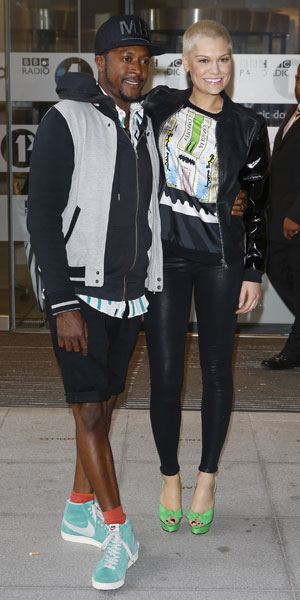Jessie J with Matt Henry outside Radio 1 at 21 June 2013