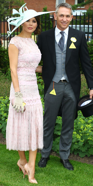 Danielle and Gary Linekar at Royal Ascot, 18 June 2013