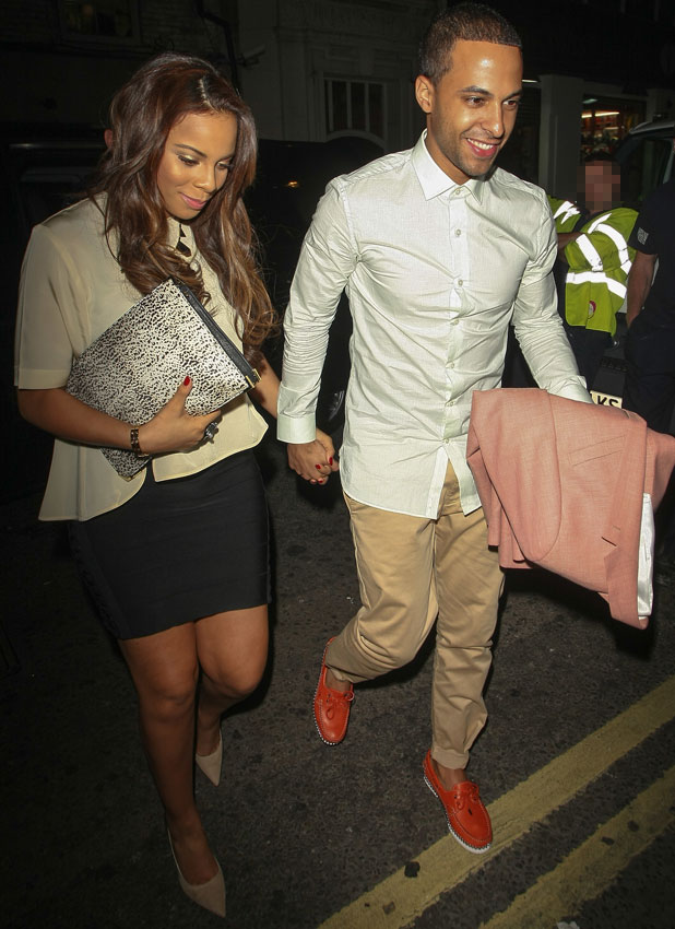 Rochelle and Marvin Humes in London, 18 June 2013