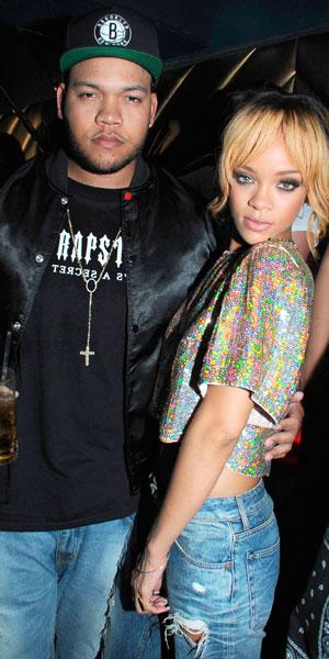 Rihanna and brother, Rorrey Fenty, at after show party at Boujis nightclub, London, Britain - 16 Jun 2013