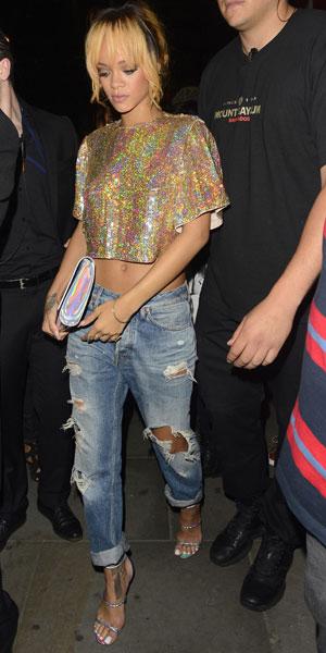 Rihanna parties at Boujis nightclub on 16 June 2013