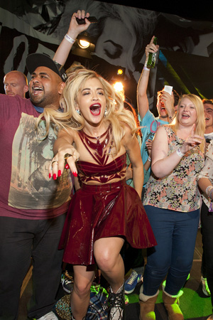 Rita Ora performs at the Sony Xperia Access party in London (18 June)