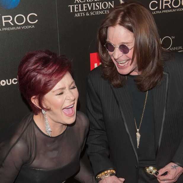 Sharon and Ozzy Osbourne at the Daytime Emmy Awards, 16 June 2013.