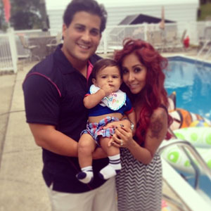 Snooki, Jionni LaValle Father's Day - 16 June 2013