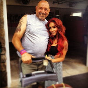 Snooki, Snooki's dad and Lorenzo Father's Day - 16 June 2013