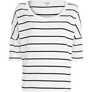 black and white striped tee shirt from River Island