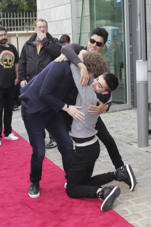 27 June 2013 - The Wanted arriving at TV studio at Osthafen studios, Germany