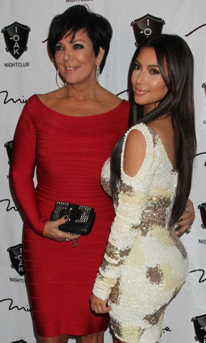 Kris Jenner and Kim Kardashian celebrating Rob Kardashian's birthday in Las Vegas, 2012