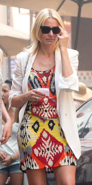 Cameron Diaz on the set of The Other Woman in New York - USA 24th June 2013