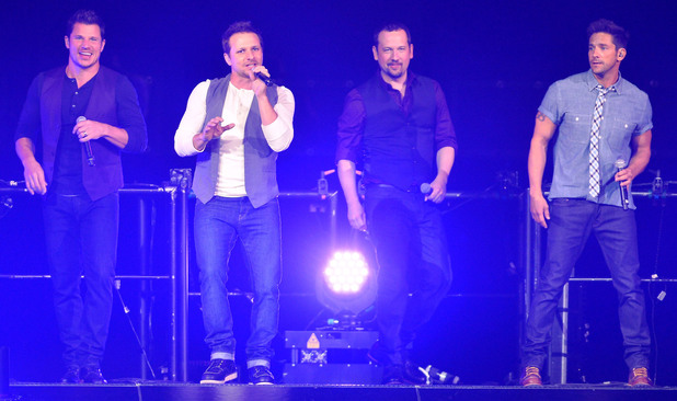98 Degrees perform live in concert during 'The Package Tour' at the BB&T Center, Nick Lachey,Drew Lachey,Justin Jeffre,Jeff Timmons,98 Degrees - 22 June 2013