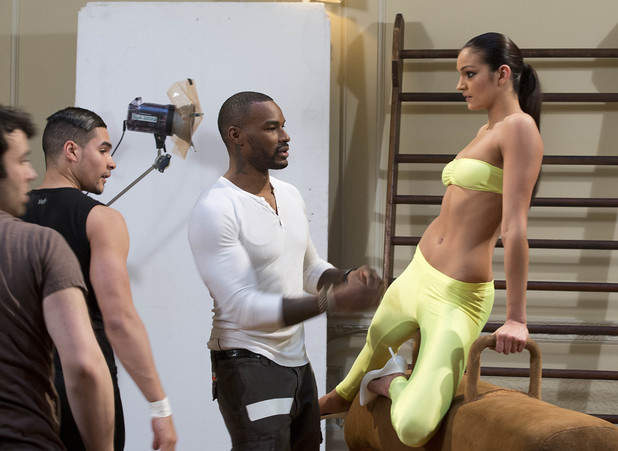 Danielle Sandhu and Tyson Beckford on Britain & Ireland's Next Top Model - June 2013