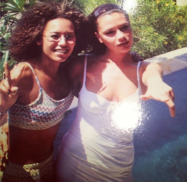 Mel B shares a throwback thursday picture of herself and Victoria Beckham from Spice Girls' heyday - 27 June 2013