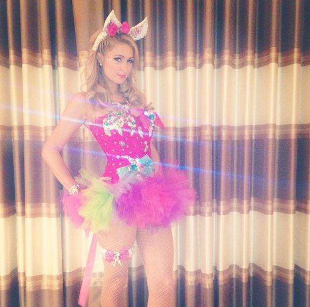 Paris Hilton wears tutu for Electric Daisy Carnival - June 2013