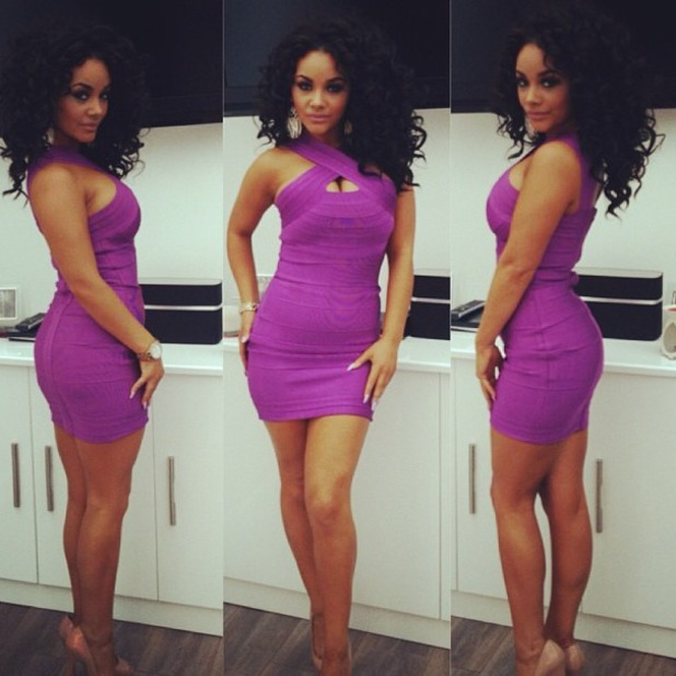 Chelsee Healey shows off killer body in purple dress, June 30 2013