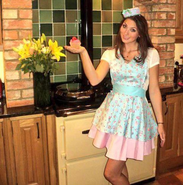 Luisa Zissman from The Apprentice models her cup cake shop uniform - 27 June 2013