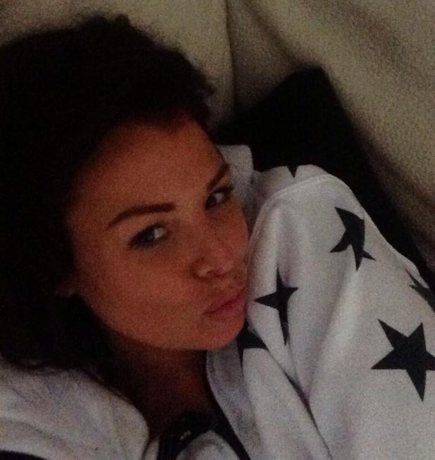 Jessica Wright wearing no make-up and chilling in her onesie, Twitter, 24 June 2013