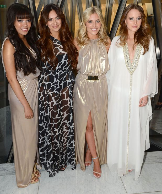 Dionne Broomfield, Zara Martin, Mollie King and Rosie Fortescue at the Resort 2014 Odabash Macdonald Collection Launch, ME Hotel, London, Britain - 25 Jun 2013