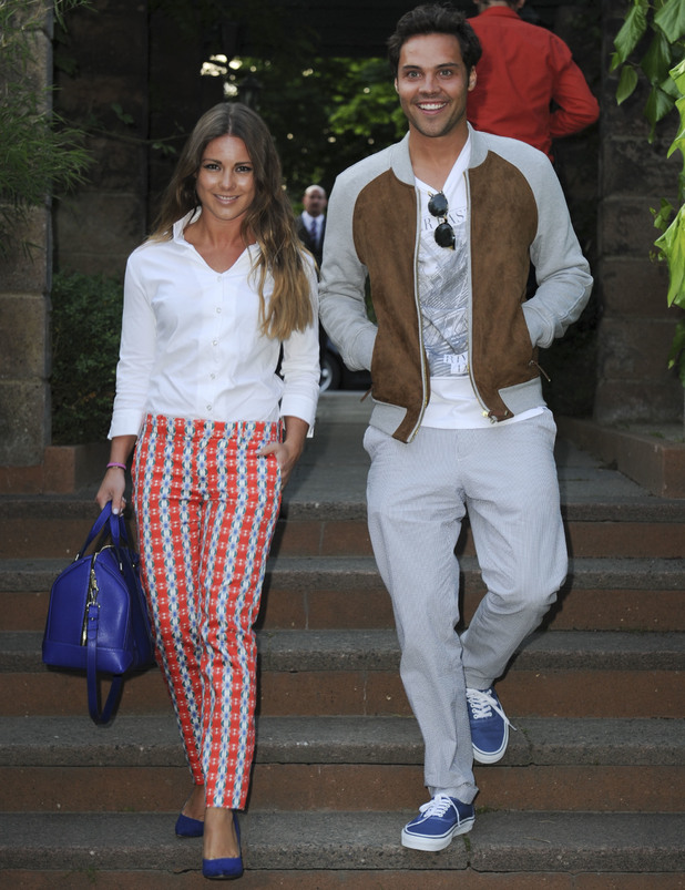 Made In Chelsea's Louise Thompson and Andy Jordan out in London, 25 June 2013