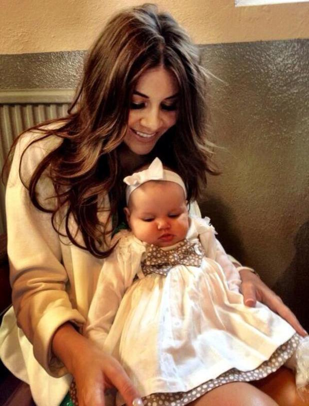 Imogen Thomas pictured with daughter Ariana Siena at a wedding - 23 June 2013