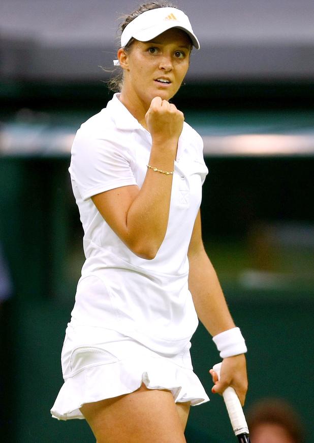 Laura Robson plays at Wimbledon Tennis Championships, London, Britain - 28 Jun 2013