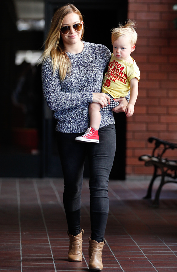 Hilary Duff and son Luca - 26 June 2013