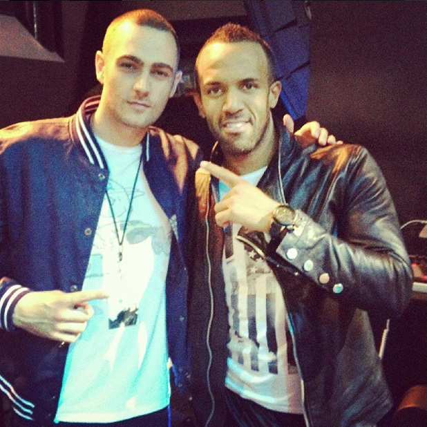 Charlie Brown backstage with Craig David on his world tour