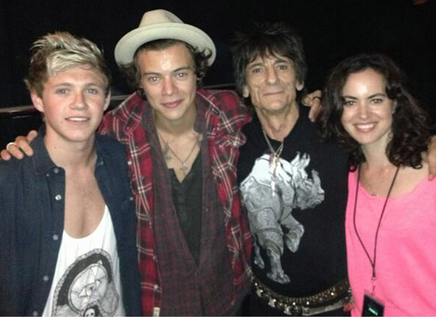 One Direction's Niall Horan and Harry Styles party with The Rolling Stones' Ronnie Wood