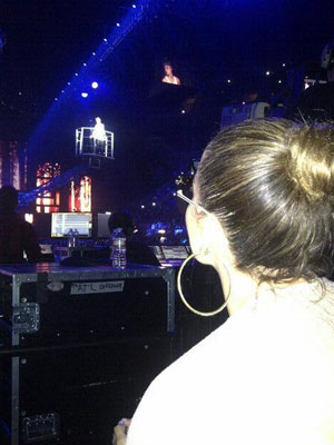 Jennifer Lopez at Justin Bieber concert, 25 June 2013