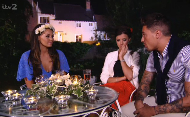 TOWIE's Jessica Wright, Mario Falcone and Lucy Mecklenburgh at the Summer Solstice party