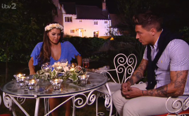 TOWIE (23 June) Jessica Wright and Mario Falcone talk at the Summer Solstice party
