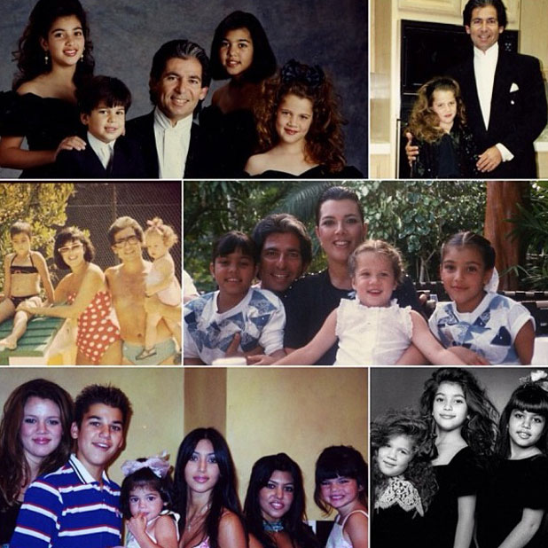 Kim Kardashian's collage of pictures to celebrate Khloe's 29th birthday, 27 June 2013